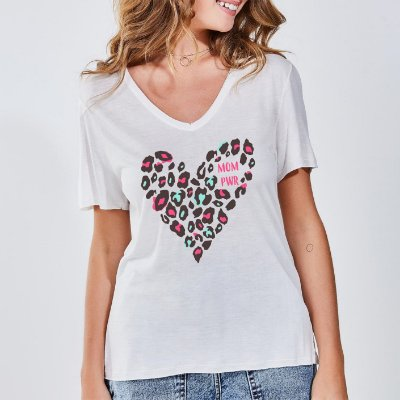 Camiseta Feminina Mom Pwr Onça