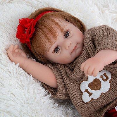 Bebe Reborn Born Real Rebeca Ice 50CM- Lançamento 2021