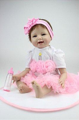 Bebê Reborn Jéssica com Laço e 55cm