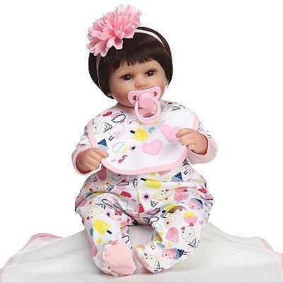 Bebe Reborn Ariela 40cm com Mantinha