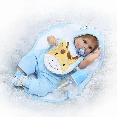 Bebê Reborn Rafael com Mantinha