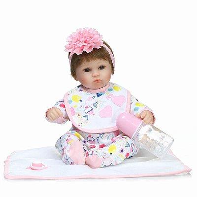 Bebê Reborn Luana com Mantinha