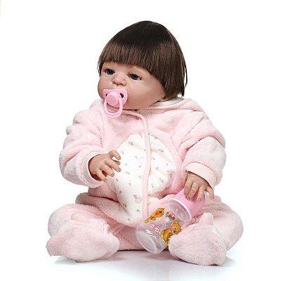 Bebê Reborn Sayuri com Pijama Fofinho Lançamento 2017