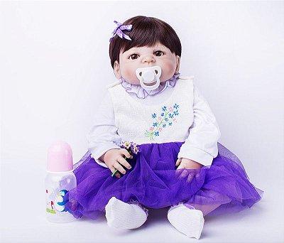 Bebê Reborn Amanda com Vestido Rodado Lançamento 2017