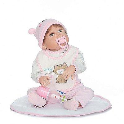 Bebê Reborn Natasha Feita Toda em Silicone com 55cm!