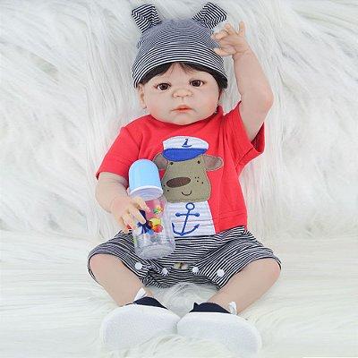 Bebê em Silicone Reborn Marcos com Roupa de Passear