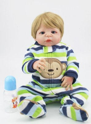 Bebê Reborn Túlio Super Fofo com Pijaminha Monkey