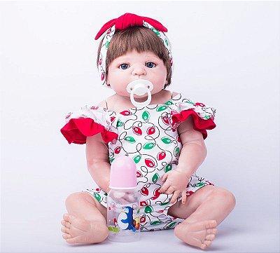 Bebê Reborn Amabile Toda em Silicone Importada