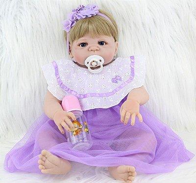 Bebê Reborn Vintage em Silicone e Loirinha Lançamento 2017