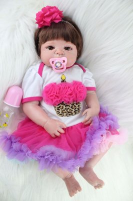 Bebê Reborn Demi com Vestido Rodado Lançamento 2017