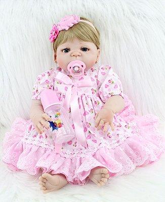 Bebê Reborn Pietra Lançamento 2017 Toda em Silicone