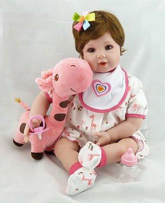 Bebê Reborn Taiza com Linda Girafinha Lançamento 2017