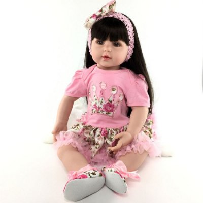 Bebê Reborn com Cabelo Liso e Longo Isadora 55 cm