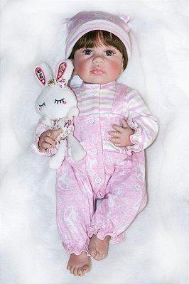Bebe Reborn Tifanny com 40cm Inteira em Silicone - Lançamento 2018