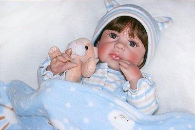 Bebe Reborn Fred com 40cm, Inteiro em Silicone