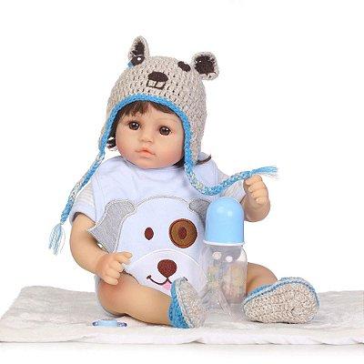 Bebê Reborn Theo 40cm com Sapatinhos