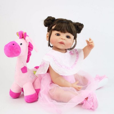 Bebe Reborn Ana Luíza com 55cm - Inteira em Silicone 2019