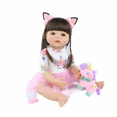 Bebe Reborn Hilary Modelo Exclusivo 2019 com 55cm Inteira em Silicone