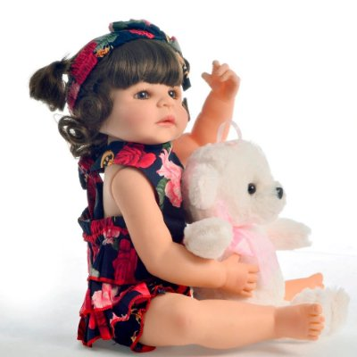 Bebê Reborn Anitta Fashion Inteira em Silicone 55cm