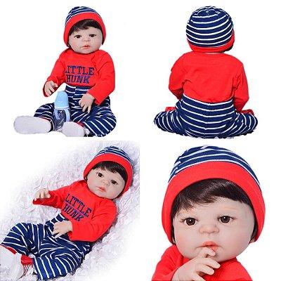 Bebê de Silicone Renan Red Inteiro em Silicone 55cm - PRONTA ENTREGA