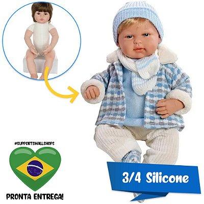 Boneco Estilo Bebê Reborn Jack Elegance 40cm Baby Brink - Pronta Entrega!