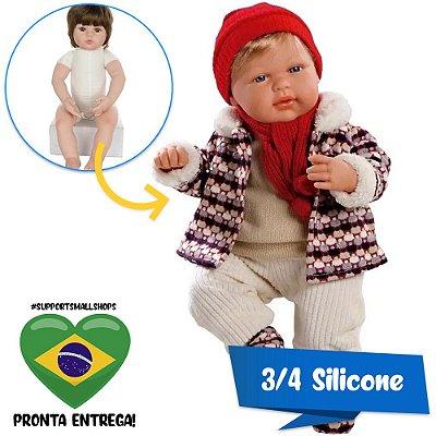 Boneco Estilo Bebê Reborn Eduard Elegance 40cm Baby Brink - Pronta Entrega!
