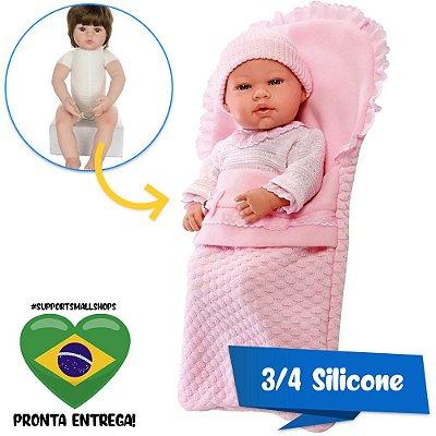 Boneca Estilo Bebê Reborn Anne Elegance 40cm Baby Brink - Pronta Entrega!