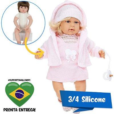 Boneca Estilo Bebê Reborn Mary Elegance 40cm Baby Brink - Pronta Entrega!