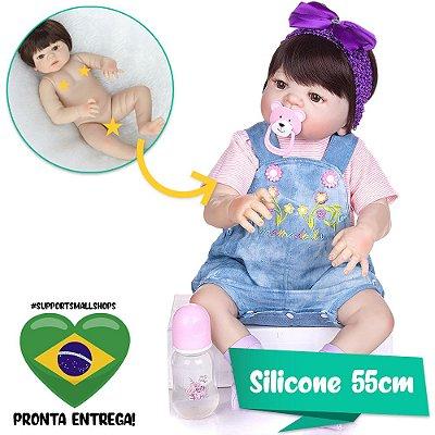 Bebê Reborn Marieta Toda em Silicone 55cm - Pronta Entrega!