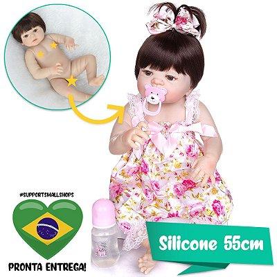 Bebê Reborn Rebeca 55cm com Linda Chuquinha - Pronta Entrega!