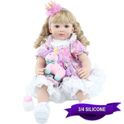 Bebê Reborn 60cm Sonhos de Unicórnio com Pelúcia Grátis