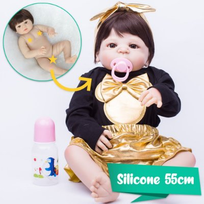 Bebê Reborn Betina 55cm com Roupinha da Miney Mouse - Pronta Entrega!