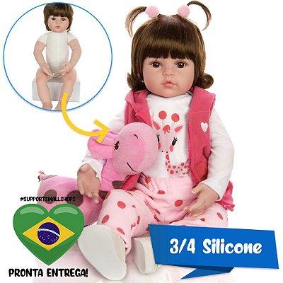 Bebê Reborn 3/4 Silicone Jade 48cm Campeã de Vendas - Pronta Entrega!