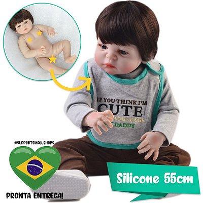 Bebê Reborn Ronaldo 55cm com Enxoval Fofo - Pronta Entrega!