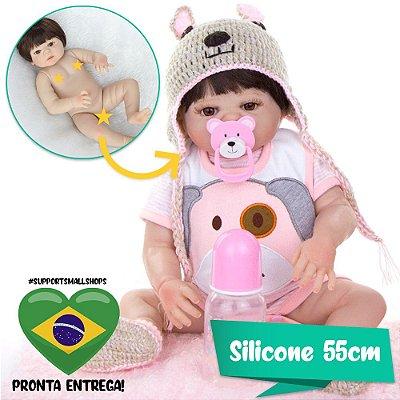 Bebê Reborn Sabrina 55cm com Enxoval de Cachorrinho - Pronta Entrega!