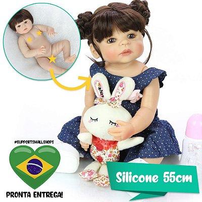 Bebê Reborn Islaine com Coelho e Sapatinho - Pronta Entrega!
