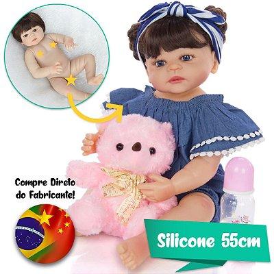 Bebê Reborn Luana 55cm Corpinho em Silicone