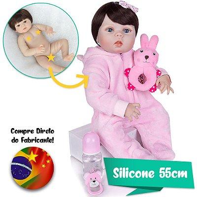 Bebê Reborn Júlia 55cm com Macacão Sweet Dreams