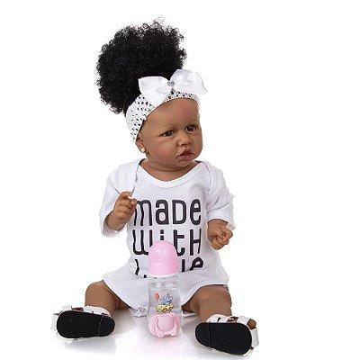 Bebê Reborn Jéssica 55cm Corpinho Inteiro em Silicone - Lançamento 2021