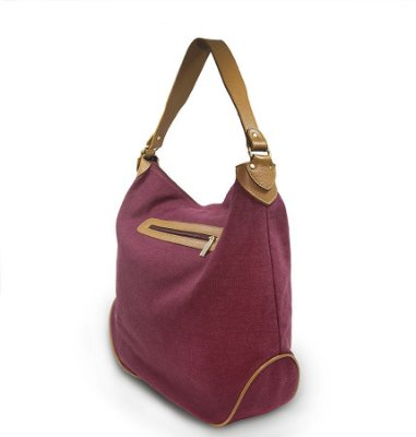 Hobo Bag Lona Eco Vinho