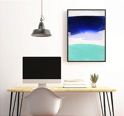 Quadros abstratos tons de azul FF046