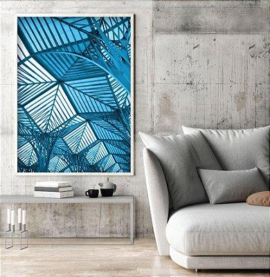 Quadro arquitetura azul FF031