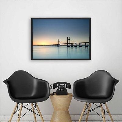 Quadro paisagem ponte FF014