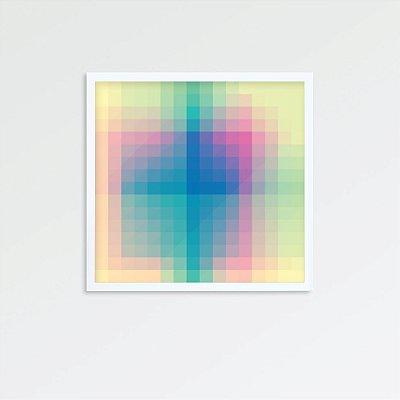 Quadro abstrato colorido FF082