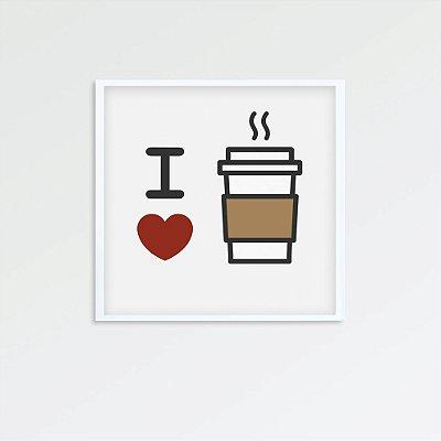 Quadro i love coffee FF060