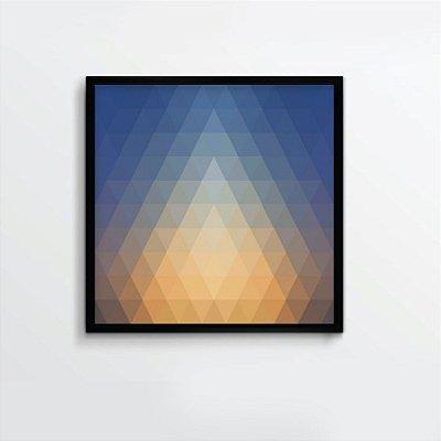 Quadro abstrato azul e amarelo FF098