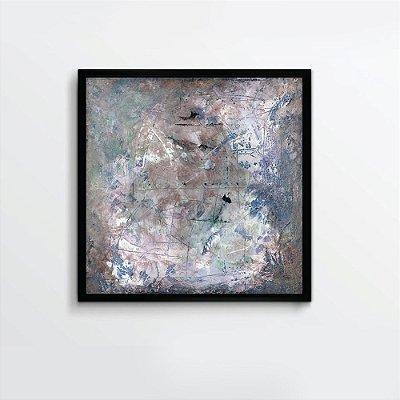 Quadro abstrato azul e branco FF093