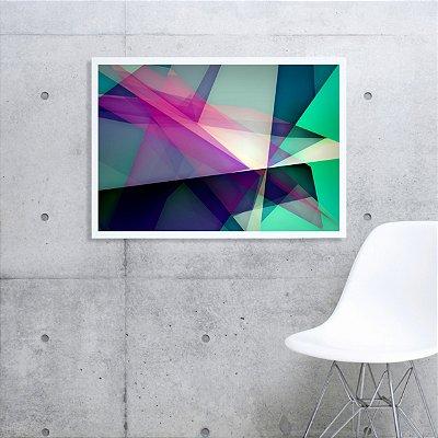 Quadro abstrato colorido ff123