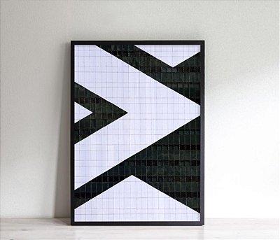 Quadro abstrato triângulos ff119