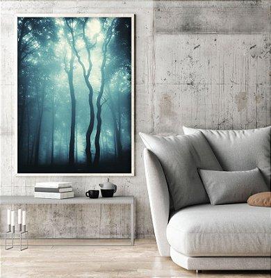 Quadro floresta azul ff124